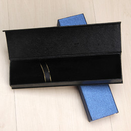 Recyclable fabRics online shopping - New Office Stylish Nice Fabric Gift Supplies School Black Standard Engraved Packing Single Pen Box