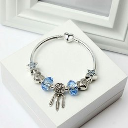 Punk Simple Style Wing Snake Glass Beads Key Dream Catcher Leaves Crystal Beads Charms Fit Pandora Bracelets Diy Making Jewelry Beads & Jewelry Making