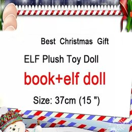 Kids christmas booKs online shopping - Christmas Plush ELF Dolls Book Red Girl Boy Stuffed Dolls Figure XMas Elves christmas Novelty Toys Kids Holiday Gift HH7