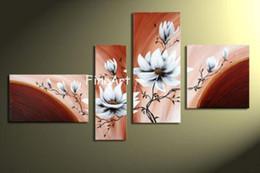 Modern Wall Art Decor Cheap NZ - hand-painted peony flower wall painting canvas oil beautiful abstract arts oil paintings gallery cheap modern canvas art discount wall decor
