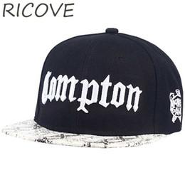 Compton Rapper Baseball Cap Summer Snapback Hip Hop Hats Street Flat Hat  For Men Women Letter Embroidery Snapback Caps Casual c9e1de8dd124