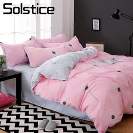 Ivory Linen Suit Canada - Solstice Home Textile Dandelion Pink Duvet Cover Bed Sheet Pillowcase Girl Kid Adult Woman Bedding Set Single Double Linens Suit