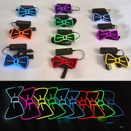 $enCountryForm.capitalKeyWord NZ - LED Bow Tie For Adult Party Club Festive Supplies Multicolor EL Cold Light Line Flash Bowknot Light Up Toys Ties 20yh Y