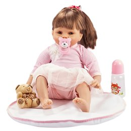 cute reborn babies girls 2019 - 55cm Reborn Baby Dolls Handmade Silicone Baby Toddler Doll Lifelike Soft Vinyl Naked Girl Doll Cute DIY Toys Best Gifts