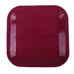 Boutique DODA 20x 9 inch Square Paper Plates 23cm Plain Solid Colours Birthday BBQ Party Tableware(Wine Red )  sc 1 st  DHgate.com & Coloured Paper Plates Online Shopping | Coloured Paper Plates for Sale
