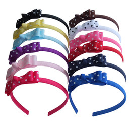 China Dots Hairbands Hair Bow Hair Hoop Head Bands Weave Plastic Headband Hairband Boutique Tiara Hair Accessories 12 Pcs supplier head band weaves suppliers