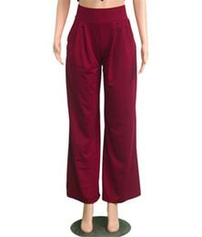 $enCountryForm.capitalKeyWord NZ - Women Pants High Waist Speaker Wide Leg Straps Trousers New Fashion Women's Casual High Quality Pants NB-098