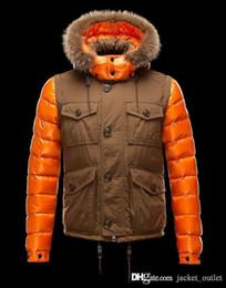 Cheap Zippers Canada - Fashion Winter Down Jacket Cool Zippers Brand Designer Jackets Men Hoodies Warm Coat Design Outdoor Coats Cheap Sale