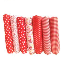 b3d5b54068 Hoomall new 7 pcs tecido de algodão vermelho para patchwork tecidos baratos  de costura material de decoração para casa diy handmade acessórios 25x25 cm