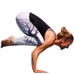 Discount leggings tree print - 2018 New Design Women Legging Trees Printing Blue Fitness Leggings Fashion High Waist Woman Pants