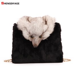 46853581a2 2018 New Winter Style Luxury Handbags Women Bag Designer Faux Fox Fur Women  Shoulder Messenger Bags High Quality Female Bag sac