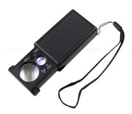 Tragbare 30X 60X Lupen LED-Licht High Powered Jewel Mini Faltbare Lupe Schmuck Lupe Taschenmikroskop 5 2xx Z im Angebot