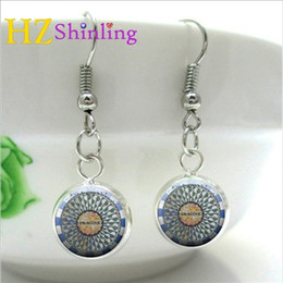 $enCountryForm.capitalKeyWord Australia - NHE-0026 John Lennon IMAGINE Mosaic Earring Handcrafted Charm Central Park Strawberry Fields Jewelry Imagine Memorial Earrings