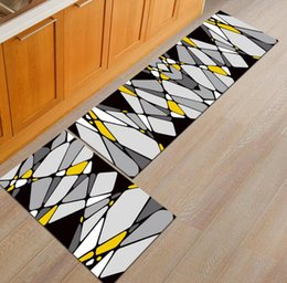Round Kitchen Sets Australia - Nordic Brief Kitchen Mat Home Decor 50X80+50X160CM Set Entrance Doormat Anti-Slip Bathroom Carpet Sliding Door Wardrobe Area Rug