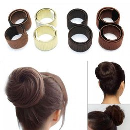 Hair styling donut bun online shopping - 200pcs Fashion Girl french hair clip DIY hair care styling tools Donut Former Foam French Twist Magic Bun Maker