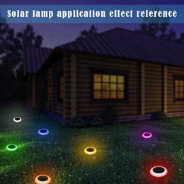 $enCountryForm.capitalKeyWord Canada - Outdoor Solar Power 7 Color Changing LED Garden Landscape Path Pathway Lights Lawn Lamp Waterproof Solar Panel Light