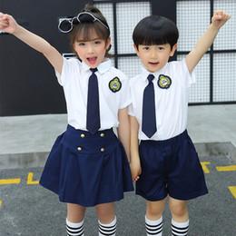 fc8ccdb0e157 Kindergarten uniform summer new children s short sleeved suit primary school  cotton uniform kids clothing suit