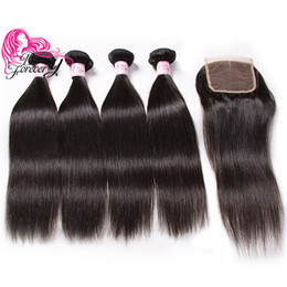 $enCountryForm.capitalKeyWord UK - Beauty Forever Indian Straight 8-30inch Hair Weave Bundles Buy 4pcs Virgin Hair Get One Free Lace Closure Unprocessed Human Hair Extensions