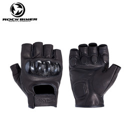 Discount gloves motorcycle motorbike - Motorcycle Gloves Summer Men Protective Half Finger Breathable Racing gloves Motorbike Guantes Moto luvas Motorbike