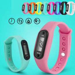 Calorie Tracker Watch NZ - Silicone Digital LCD Wirstband Pedometer Running Walking Distance Calorie Counter Wrist Sport Tracker Fitness Watch Bracelet