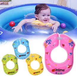 Baby Pool Inflatables NZ - Baby Kid Swim Arm Ring Double Independent Airbag Inflatable Cartoon Swimming Ring for Baby Best Swimming Pool Accessories