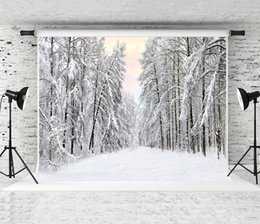 forest photography backdrop NZ - Dream 7x5ft 220X150cm Snow Scenery Backdrop White Snow Forest Photography Background for Photographer Winter Holiday Baby Photo Shoot Studio