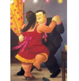 $enCountryForm.capitalKeyWord NZ - Famous Fernando Botero dance Handpainted & HD Printed Figure Art oil painting On High Quality Thick Canvas Multi Sizes Frame Options fr04