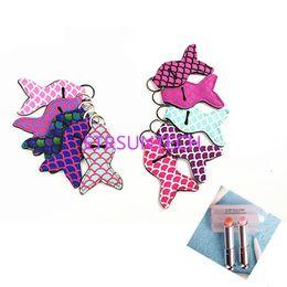 $enCountryForm.capitalKeyWord NZ - Mermaid Tail Neoprene Chapstick Holder Colored Keychain Chapstick Wrap 8 colors Lipstick Cover