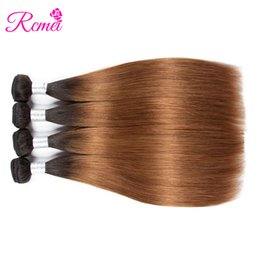 $enCountryForm.capitalKeyWord NZ - Rcmei Brazilian Virgin Hair Straight 4 Bundles Deals Ombre 1B 30 Color Remy Human Hair Bundles Weave Hair Extensions