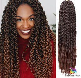 "$enCountryForm.capitalKeyWord NZ - New 24"" Cost Of Braids 3D Cubix twist Hair Extensions Hair Bundles Box Braids Synthetic Weave Blonde for black girl"
