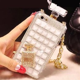 Discount perfume bottles phone case iphone 5s Rhinestone Perfume Bottle Phone Case for iphone X XR XS Max 8 7 6 6s plus 5S S8 S9 R11 Soft TPU case Protective cover Di