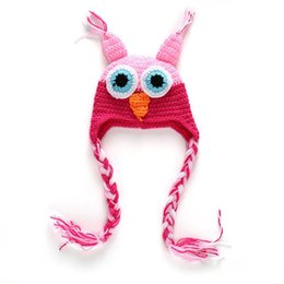 a267e89e8a6 Fashion Newborn Cute Baby Photo Props Handmade Knitted Owl Hat Cartoon  Infant Phography Shoot Accessory PZ029