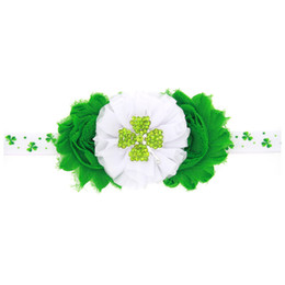 Baby Hair Headbands NZ - Newborn Baby Hair Clip Toddler Girl Green Flowers Headband Accessories