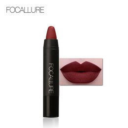 $enCountryForm.capitalKeyWord Canada - FOCALLURE Matte Lipstick pencils Lips Makeup Cosmetics Waterproof lipstick purple Lip Gloss Rouge a Labial pen