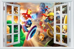 $enCountryForm.capitalKeyWord NZ - Avengers Sticker Captain America Wallpaper Lego Movie Poster Marvel Hulk Wall Stickers Thor Mural Canvas Art Decoration #2499#