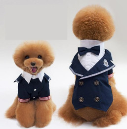 Female Navy Costumes NZ - New pets, Navy suits, pets gowns, gentlemen's bow ties, pet dog clothes.