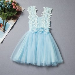$enCountryForm.capitalKeyWord Canada - baby girl dresses fashion lace flowers dress for kids princess party tutu sundress backless sleeveless outfits toddlers clothes