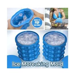 13.2*14.1cm New Ice Cube Maker Genie The Revolutionary Space Saving Ice Cube Maker Ice Genie Mold Kitchen Tools Squeeze to Pop Cold Cubes on Sale