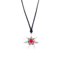 high ropes UK - High Grade Unisex Necklace Seven Pointed Star Shape Charm Design Sexy Witch Written Rope Chain Zinc Alloy Provide Dropshipping