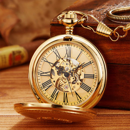$enCountryForm.capitalKeyWord NZ - Vintage Copper Automatic Mechanical Pocket Watch With Chain Luxury Vacuum IPG Plated Pendant Fob Clock Men Women Steampunk Gift