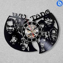 ¡NUEVO! Wu-Tang Clan Arte Moderno Etiqueta de La Pared Reloj de Pared de Vinilo Negro Diseño Decoración para el Hogar Habitación Decoración Interior Arte de La Vendimia en venta