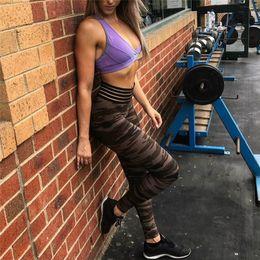 Women S Yoga Pants Wholesale NZ - Women Camouflage Push Up Fitness Sports Gym Yoga Legging Bodybuilding Sportswear Athleisure Female Pant S-XL