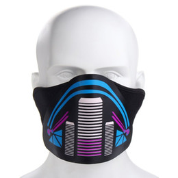 Flash Costume UK - LED Light Up Luminous Flashing Face Mask Outdoor Dance Halloween Cosplay Costume Christmas Party Warm Windproof Cycling Mask