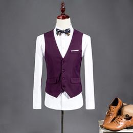 38d77cb9cb 2017 New Men Suit Vest V-neck Slim Fit Fashion Men Vest Casual Solid Color  Male Blazer Business 8 Color Size M-3XL WS847