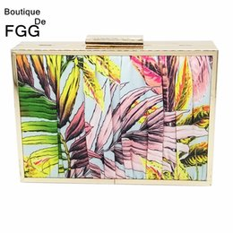 Multi Color Hand Bag Australia - Boutique De FGG Pleated Flowers Striped Women Metal Day Clutches Handbag Evening Wedding Purse Chain Shoulder Crossbody Hand Bag