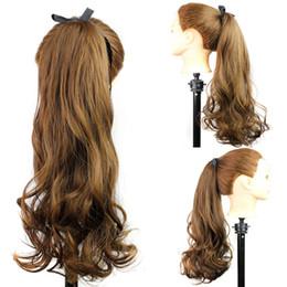 Loose Curls Long Hair Australia - Women's long mixed women's fake hair set straps curly hair gradient curls any skin color high temperature silk African American