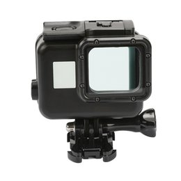 $enCountryForm.capitalKeyWord NZ - Black Waterproof Housing Case Touch Screen Back Door For Gopro Hero 6 Hero 5 Underwater Box For Go Pro Hero6 5Camera Accessories