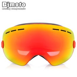 Chinese  BJMOTO Ski Goggles Motocross Goggles Mmasque Gafas Motorcycle Helmet Glasses Double Lens UV400 Anti-fog Eyewear Snow Glasses manufacturers
