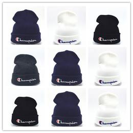 f75bdd78b4a92e Cheap New beanies Knitted Hat Designer Champion Winter Warm Thick Beanie  Fedora gorro Bonnet Skull Hats for Men women Crochet