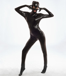 $enCountryForm.capitalKeyWord NZ - Spandex Bodysuit Shiny Catsuit Sexy Unisex Zentai Full Body Suit Sex Erotic Party Wet Look One Piece Unitard Adult Game Lingeries